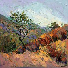 Paso Robles autumn landscape impressionist painting by Erin Hanson