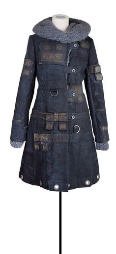 Upcycled denim coat - love this