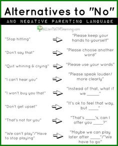 I used this approach with son #2, it didn't work out very well-he's extra sensitive and wants a warning before every consequence...#3 is being told NO when needed and he's much more flexible & happy, a little balance between the extremes is what's needed
