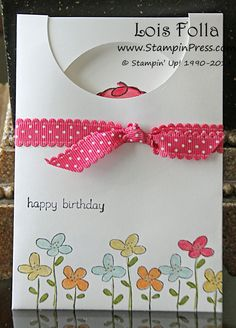 "Have you ever made a 2 1/2"" Circle Envelope Card?"