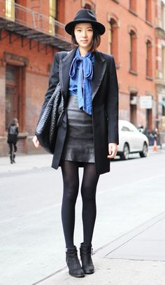 I need a black leather skirt...so chic, yet so sexy all at once