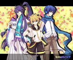 Vocaloids Gakupo, Len, and Kaito! They are good looking, have awesome hair, and can sing! What else can I ask for?! YAAAY