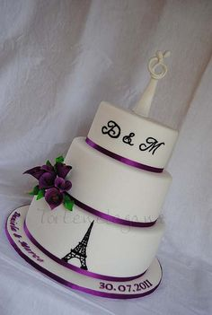 Simple Classy French Wedding Cake