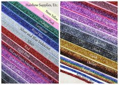 GRAB BAG Glitter Elastic 5/8 inch  10 or 20 by HairbowSuppliesEtc, $8.50