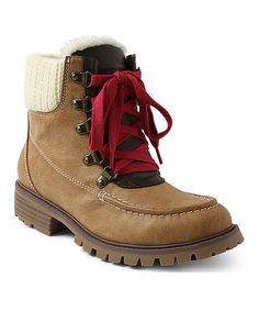Look at this #zulilyfind! Wheat Lace-Up Larissa Boot #zulilyfinds