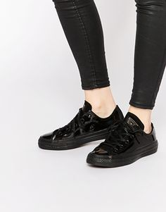 Converse Patent Chuck Taylor Low Top Trainers