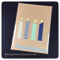 £1.50 plus postage  Candle greetings card by mummypuddleduck on Etsy https://www.etsy.com/listing/229109376/candle-greetings-card