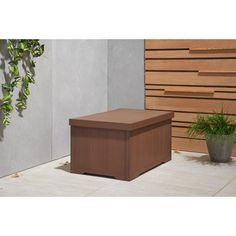 Trinity 70 Gal. Polystyrene Deck Box Amber Brown