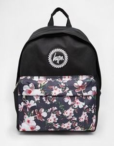10cb2e5db11b3 Shop Hype Backpack with Floral Front Pocket at ASOS.