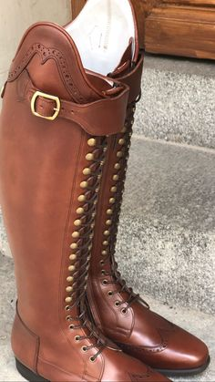 BE YOU and stand out from the rest! You may customize this model in any color or material you wish. You may freely combine colors and material too. Horse Riding Boots, Combat Boots, E Ca, Horse Stables, Equestrian Outfits, Long Boots, Dressage, Brogues, Antique Brass