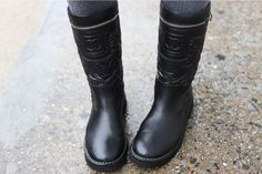 Chanel Motorcycle Biker Boots
