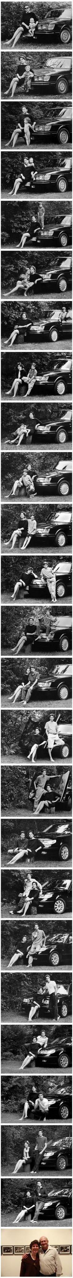 24년간 자동차 앞에서 사진을 찍은 엄마와 아들 http://i.wik.im/126594