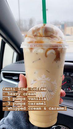 Bebidas Do Starbucks, Healthy Starbucks Drinks, Yummy Drinks, Yummy Food, Starbucks Secret Menu Drinks, Starbucks Coffee, Starbucks Order, Starbucks Hacks, Coffee Drink Recipes