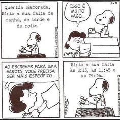 Snoopy | Carta para namorada