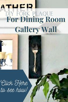 Looking for an easy home decor DIY? This fork plaque style wood sign is the perfect diy project to try at home and was perfect for our dining room gallery wall. Budget friendly diy! #homedecor #diy #diningroom #gallerywall Diy Home Decor Projects, Easy Home Decor, Diy Home Crafts, Diy Projects To Try, Fork, Wood Signs, Life Is Good, Diy Ideas, Household