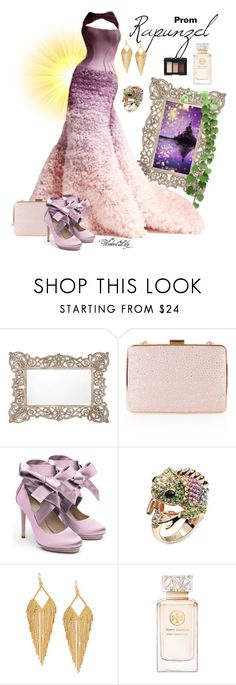 """""""Rapunzel from """"Tangled"""" PROM"""" by le-piano-argent ❤ liked on Polyvore featuring Anthropologie, Versace, Monsoon, Liam Fahy, Panacea, Tory Burch and NARS Cosmetics"""