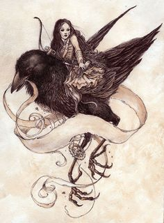 Image shared by Lina. Find images and videos about girl, art and illustration on We Heart It - the app to get lost in what you love. Illustrations, Illustration Art, Dragons, Quoth The Raven, Art Simple, Crows Ravens, Rabe, Hush Hush, Dark Art