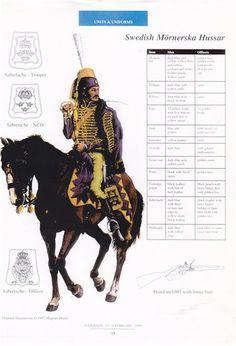 Régiment des hussards de Mörner, 1808-1813