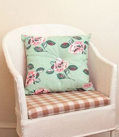 BOSTRAZE ROSE BUTTONED CUSHION £18.00 - CUSHIONS Vintage Inspired fabrics, homeware and giftwrap