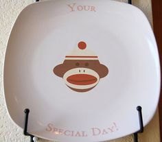hand-painted birthday plate