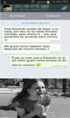 mensaje de una chica que fue trolleada por Eduardo