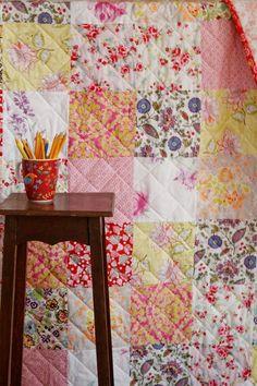 narzuta patchwork boho [romantic] - dom-artystyczny - Kołdry i patchwork