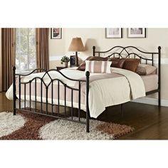 Metal Platform Bed, Queen Platform Bed, Platform Beds, Headboard And Footboard, Headboards For Beds, Contemporary Bedroom Furniture, Metal Furniture, Bed Furniture, Accent Furniture