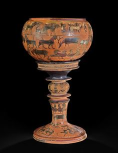 Attic black-figured dinos with stand (c.590-580 BC), signed by Sophilos – The British Museum Blog