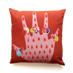 JILL printed cotton cushion by My Friend Paco Embroidered Cushions, Printed Cushions, New Product, Product Launch, How To Introduce Yourself, Make It Yourself, Hello To Myself, Cushion Pads, Decoration