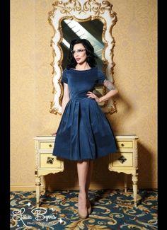 Kristina Dress in Blue by Laura Byrnes Black Label