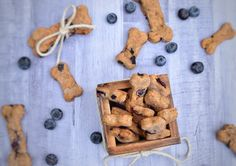 How cute are these Easy 4-Ingredient Blueberry Dog Treats from Chocolate Covered Cheetah? We'd eat those!