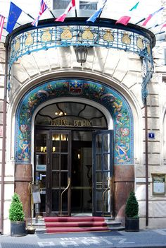 Art Nouveau Hotel Pariz. Prague.Czech republic