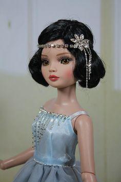 Powder Blue AND Grey Dress FOR Ellowyne Wilde Dolls Tonner Babettedollfashions   eBay