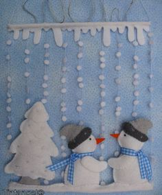 felt winter scene wall hanging (image only)