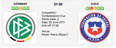 Chile are set to go head-to-head at the Kazan' Arena (Kazan') on Thursday for their Confederations Cup encounter. Germany Vs, Cup Games, Sports Picks, Sports Betting, Chicago Cubs Logo, Chile, Competition, Tips, Board