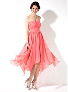 Sweet Sixteen Dresses - $136.99 - Empire Sweetheart Asymmetrical Chiffon Homecoming Dress With Ruffle Beading  http://www.dressfirst.com/Empire-Sweetheart-Asymmetrical-Chiffon-Homecoming-Dress-With-Ruffle-Beading-022010544-g10544