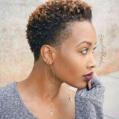 See 17 Hot Tapered Short Natural Hairstyles