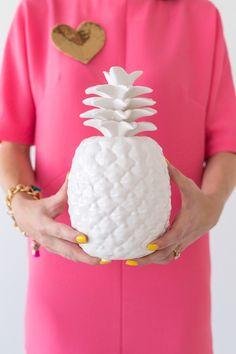 white porcelain pineapple! > http://www.wayfair.com/DK-Living-Porcelain-Pineapple-Figurine-173081-173082-DKLV1356.html