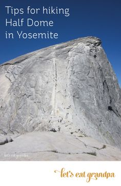 Tips for climbing Half Dome in Yosemite. The cables on Half Dome are intense! Be prepared for a dangerous, steep climb to the top. Hiking Tips, Camping And Hiking, Camping Gear, Camping Jokes, Camping Trailers, Outdoor Camping, Backpacking, Camping World Locations, Camping In England