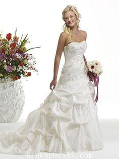 Charming White Princess Scoop Neckline Wedding Dress01