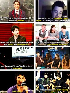 Darren Criss and Chris Colfer talking about each other