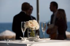 Bride bouquet on the bridal table at Cafe del Mar Marbella.Wedding photography by Kris Mc Guirk.Destination weddings with style. Bridal Table, Bride Bouquets, Destination Weddings, Beach Club, Spain, Wedding Photography, Table Decorations, Style, Del Mar