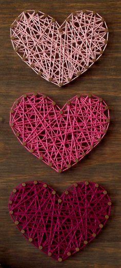 Mini Herzen String Art Schild Herz Holzschild von LoveArtSoul11