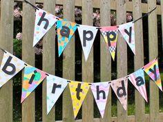 Birthday Pennant Banner Kit  Make your own by LeeLeeStreet on Etsy, $16.00
