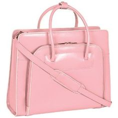 """McKlein USA W Series Lake Forest Leather Women's 15.4"""" Laptop Case (Pink)"""