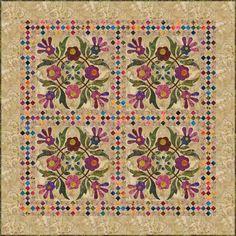Laundry basket quilts:  Block four spring Bouquet