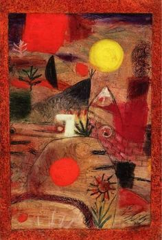 Paul Klee- ceremony and sunset (1920)