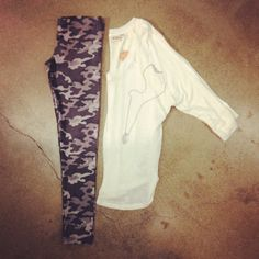 The last thing you'll do is blend in with these #camo leggings. #ootd #Kohls