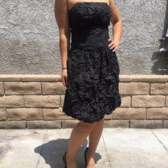 PRICE REDUCED!!! Black wrinkled texture dress Black wrinkle textured dress. Very comfortable!! Worn once! Dresses