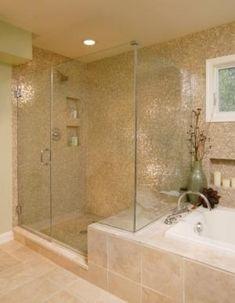 Home depot bathroom shower tile for tub ideas modern stainless steel bar towel rack image Baño Home Depot, Home Depot Bathroom, Bathroom Spa, Bathroom Layout, Bathroom Flooring, Modern Bathroom, Bathroom Ideas, Beige Tile Bathroom, Target Bathroom